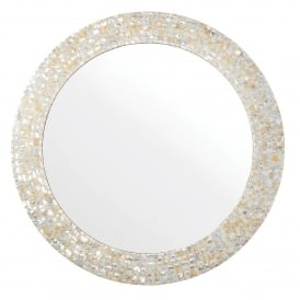 Bexley Round Mirror in Mother Of Pearl