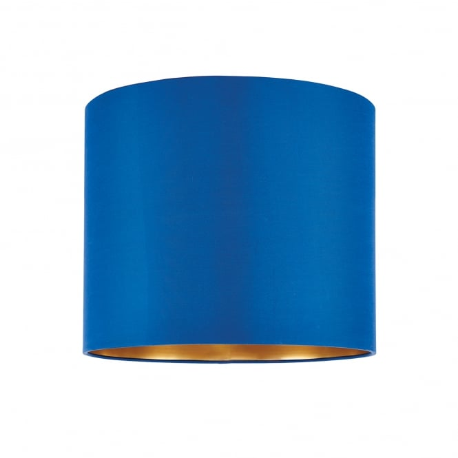 Endon Lighting Boutique 12 Inch Midnight Blue Silk Shade With A Brushed Gold Effect Inner