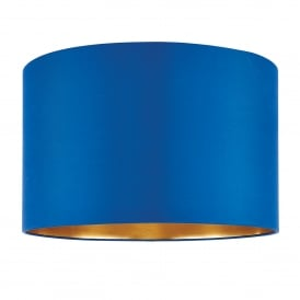 Boutique 16 Inch Midnight Blue Silk Shade With A Brushed Gold Effect Inner