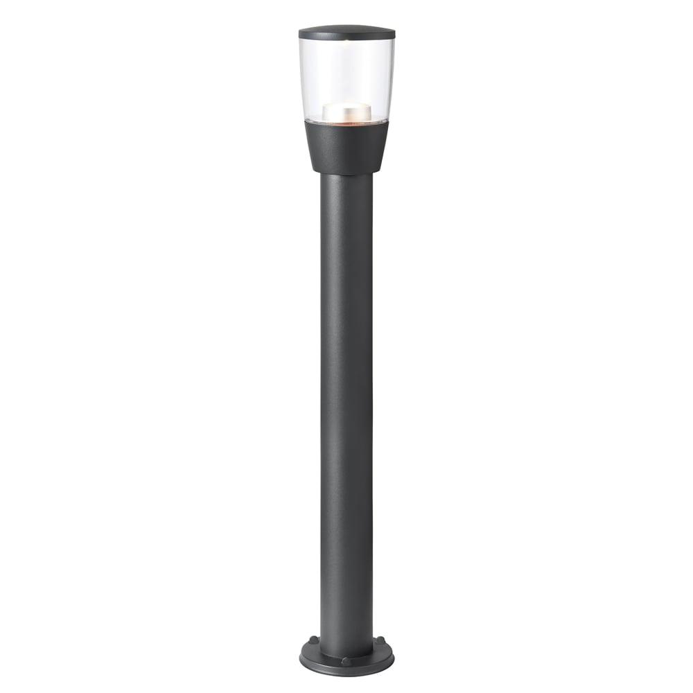 Endon Lighting Canillo Outdoor Single LED Bollard Light in Dark Matt  Anthracite and Clear Acrylic
