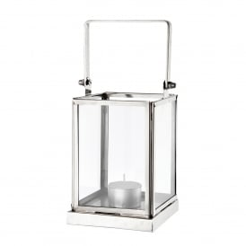 Canvey Square Lantern in Polished Nickel Finish and Clear Glass