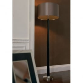 Chasselas Single Light Floor Lamp With Polished Chrome And Wood Finish