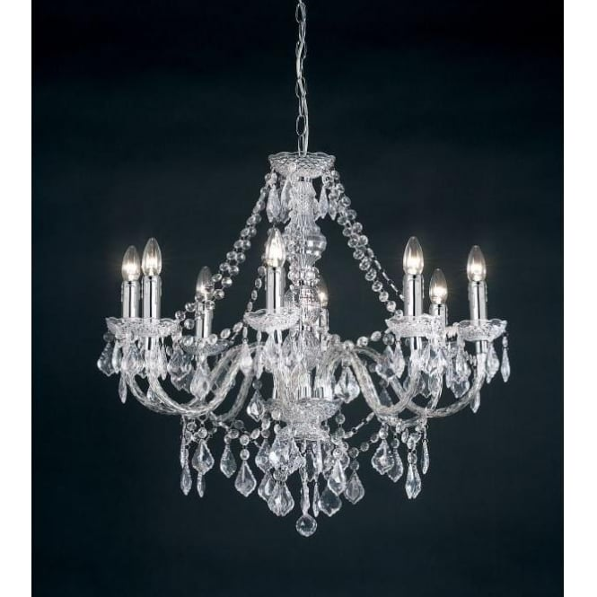 Clarence 8 Light Acrylic Crystal Chandelier