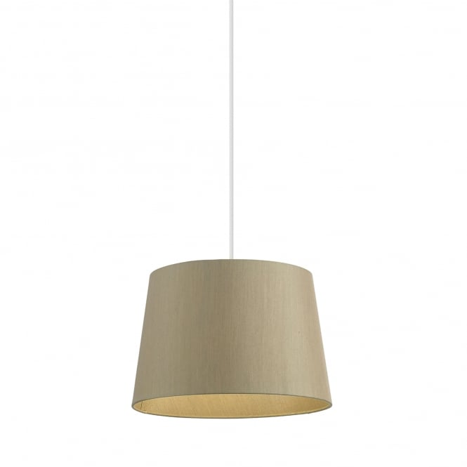 Endon Lighting Cordelia 12 Inch Gold Faux Silk Shade