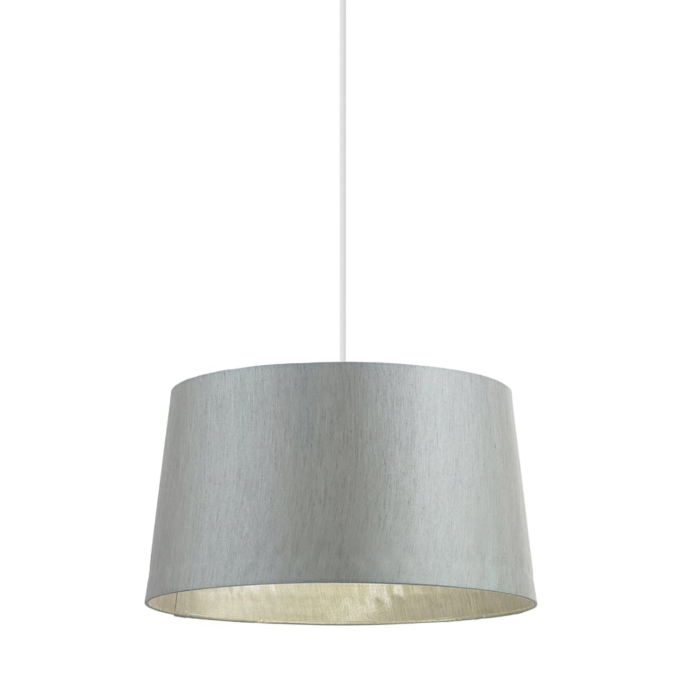 Endon Lighting Cordelia 16 Inch Silver Grey Faux Silk Shade - Lighting Type from Castlegate ...
