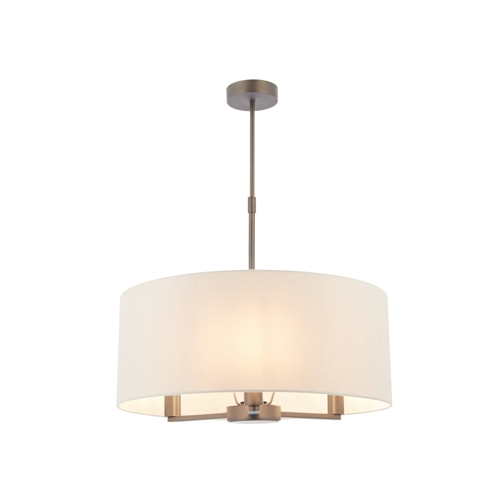 Endon Lighting Daley 3 Light Ceiling Pendant With Antique