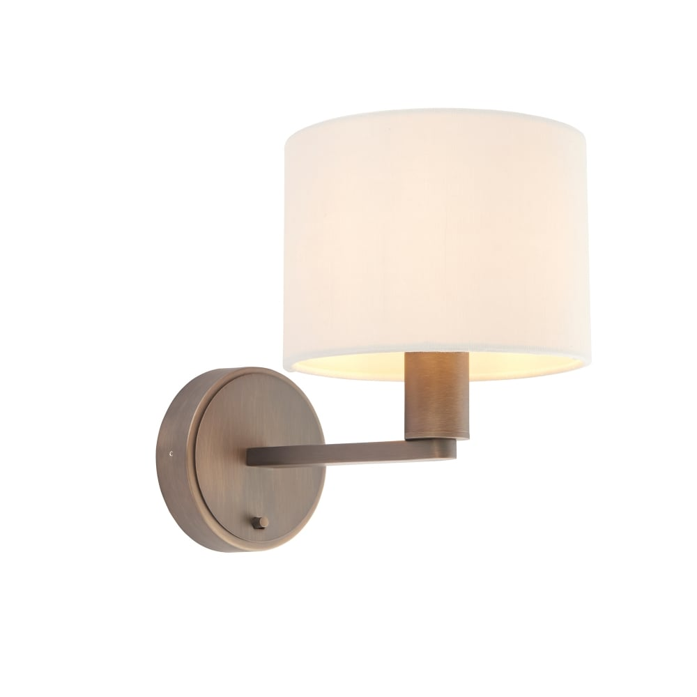 Endon lighting wall lighting buy endon lighting wall lights online daley single light wall fitting in antique bronze finish mozeypictures Images