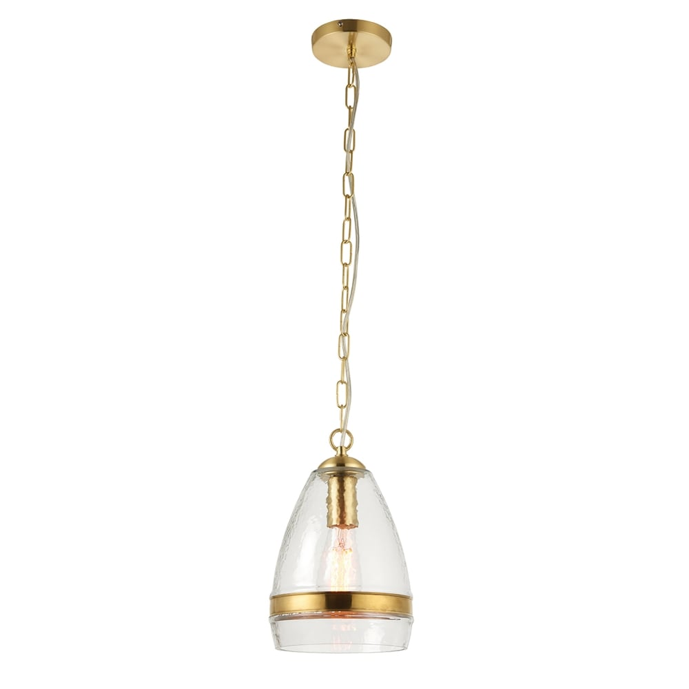 Endon Lighting Delia Single Light Ceiling Pendant In Clear