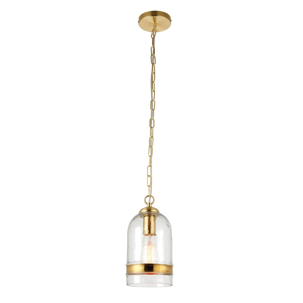 Endon Lighting Delia Single Light Ceiling Pendant in Clear ...