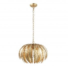 Delphine 3 Light Ceiling Pendant in Gold Paint Finish