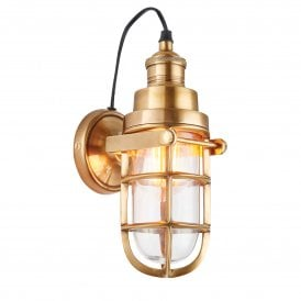 Elcot Single Light Solid Brass Interior Wall Fitting