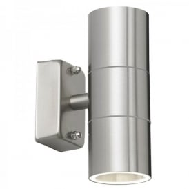 Enluce Double Light Halogen Outdoor Wall Fitting In Stainless Steel Finish
