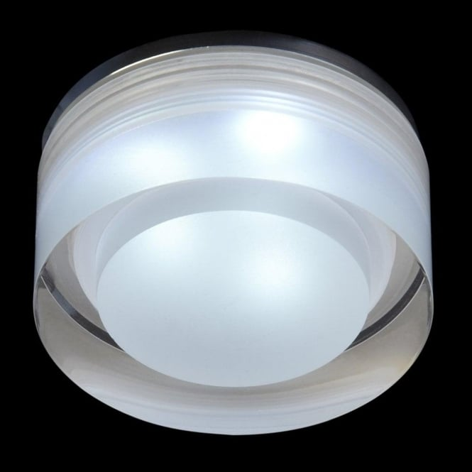 bathroom lighting led recessed endon lighting enluce led single light recessed 16140