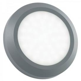 Enluce LED Surface Mounted Outdoor Circular Brick Light In Grey Finish With Frosted Diffuser
