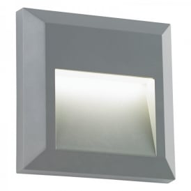 Enluce LED Surface Mounted Outdoor Square Brick Light In Grey Finish