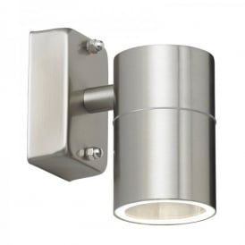 Enluce Single Light Halogen Outdoor Wall Fitting In Stainless Steel Finish