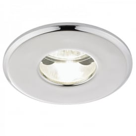 Enluce Single Light Recessed Fire Rated Ceiling Fitting In Polished Chrome Finish