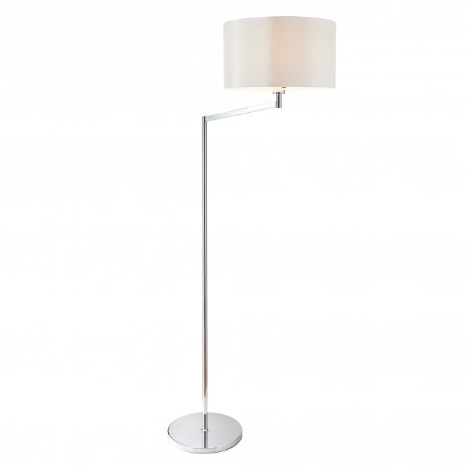Endon Lighting Evelyn Single Light Swing Arm Floor Lamp In