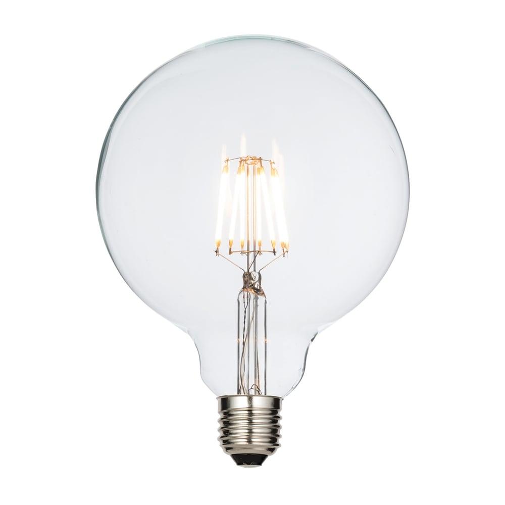 endon lighting filament style 7w led 125mm globe led bulb. Black Bedroom Furniture Sets. Home Design Ideas