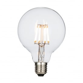 Filament Style 7w LED 95mm Globe Bulb with E27 Type Socket