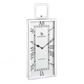 Fleetwood Small Wall Clock in Polished Nickel Plated Finish