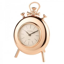Handal Large Mantel Clock In Shiny Copper Finish With Stand