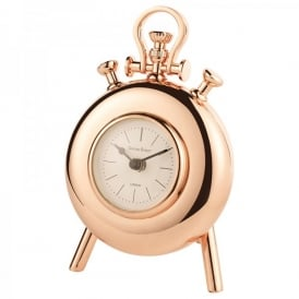 Handal Small Mantel Clock In Shiny Copper Finish With Stand