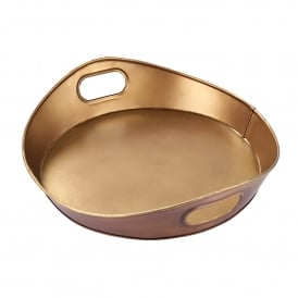 Harding Medium Tray in Aged Brass Effect Finish
