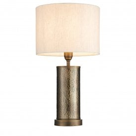 Indara Single Light Table Lamp with Natural Linen Shade