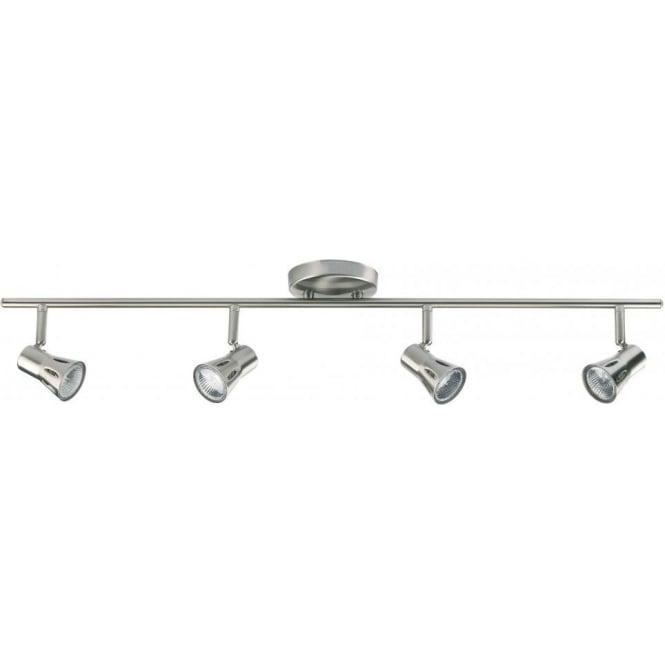 Endon Lighting Krius 4 Light Halogen Spotlight Ceiling Fitting In Satin Chrome Finis