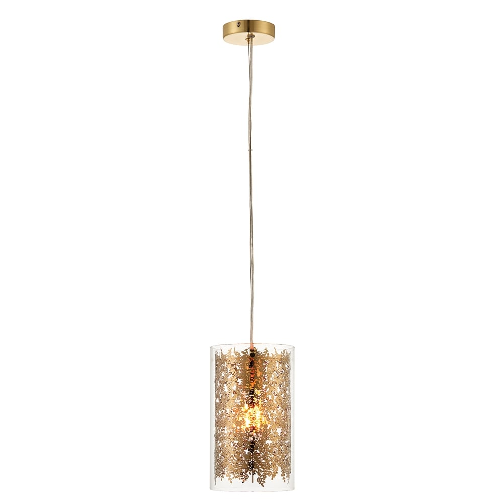 Endon Lighting Lacy Single Light Ceiling Pendant With