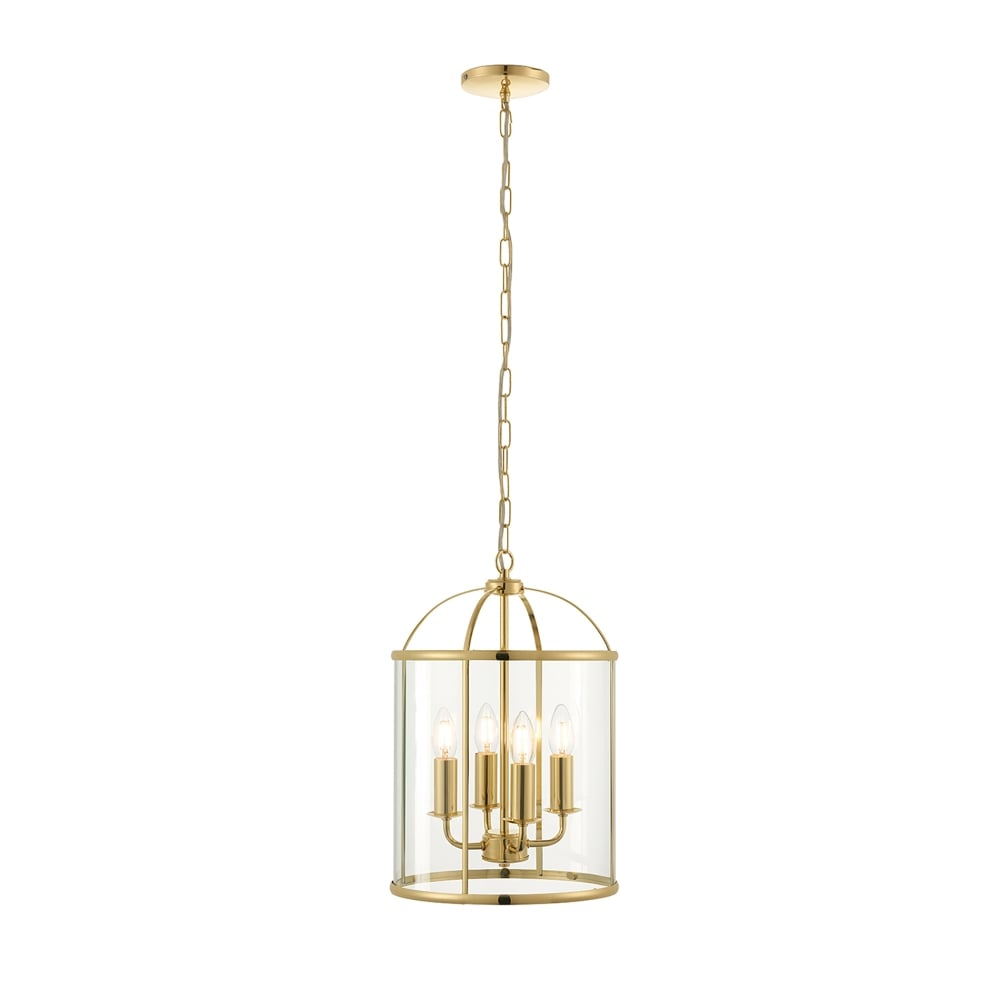 Brass Finish Ceiling Lights : Endon lighting lambeth light ceiling pendant in polished