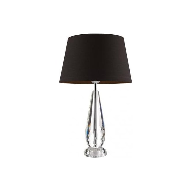 Endon Lighting Lyceum Single Light Table Lamp Base Only In Clear Crystal Finish Type