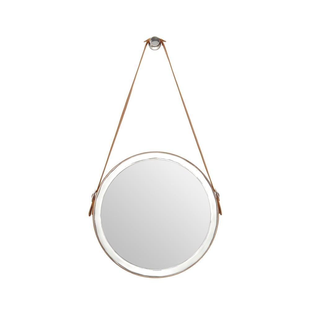 Hanging Light Up Mirror: Endon Lighting Maldon Round Hanging Mirror With Polished