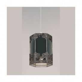 Mirror And Pewter Ceiling Light Pendant Shade