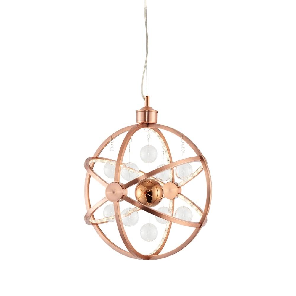 Endon Lighting Muni Small LED Ceiling Pendant In Copper