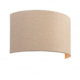Obi Single Light Wall Fitting in Natural Linen