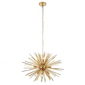 Orta 9 Light Ceiling Pendant with Brushed Gold Effect