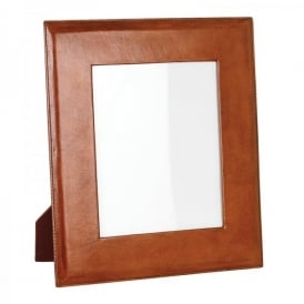 Oswald Large Photo Frame In Tan Leather Finish
