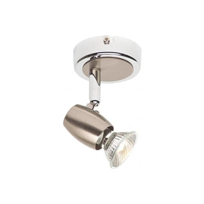 Endon Lighting Palermo Single Light Ceiling Or Wall Spotlight Fitting In Polished Chrome Finish ...