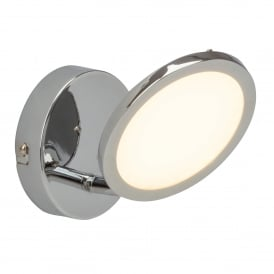 Pluto Single LED Dimmable Ceiling Spotlight Fitting in Chrome Plated Finish