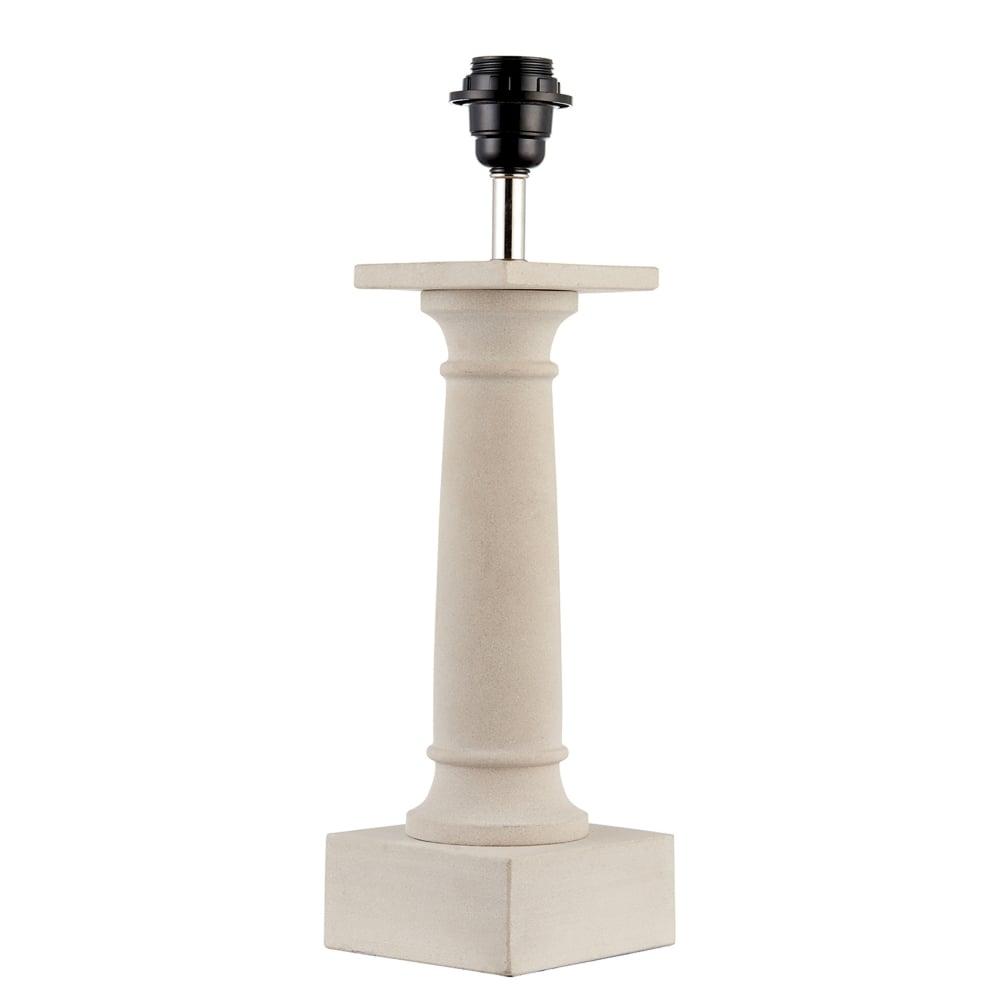 endon lighting pompey single light table lamp base only in polished sandstone finish. Black Bedroom Furniture Sets. Home Design Ideas