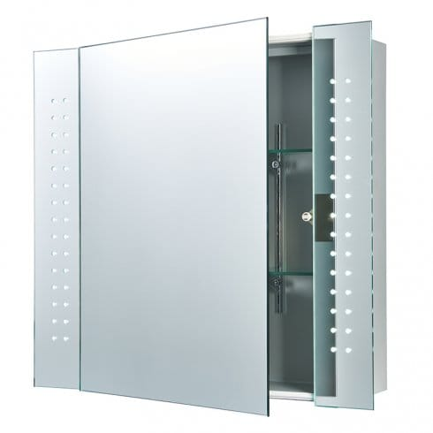 Endon Lighting Revelo LED Bathroom Cabinet Mirror With Motion Sensor And Buil