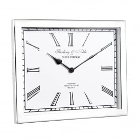 Rochford Mantel Clock in Polished Nickel Plated Finish and Clear Glass