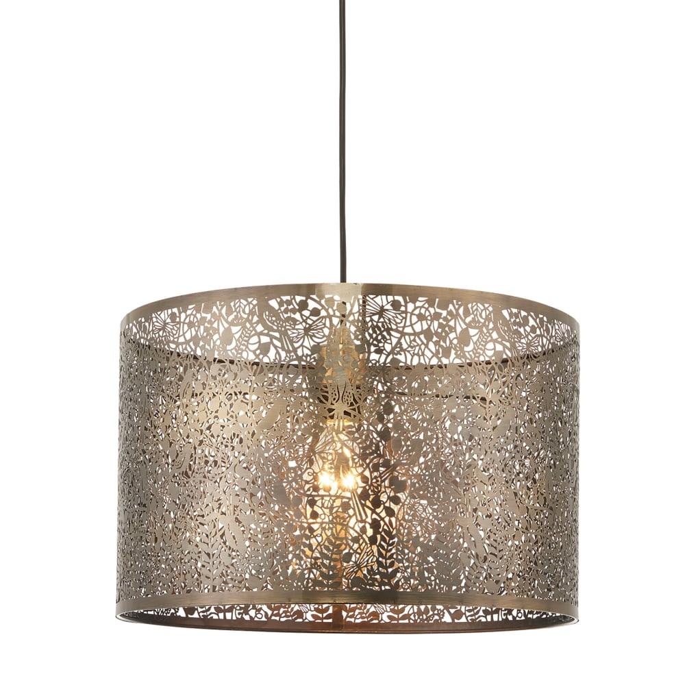 Secret Garden Ceiling Light Shade Only In Antique Brass Finish
