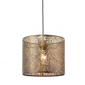 Secret Garden Small Ceiling Light Shade In Antique Brass Finish