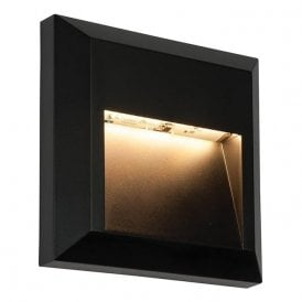 Severus LED Surface Mounted Outdoor Square Guide Light In Black Finish