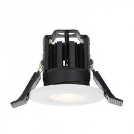 Shield LED 600 Single Light Fire Rated Bathroom Recessed Ceiling Spotlight Fitting In White Finish