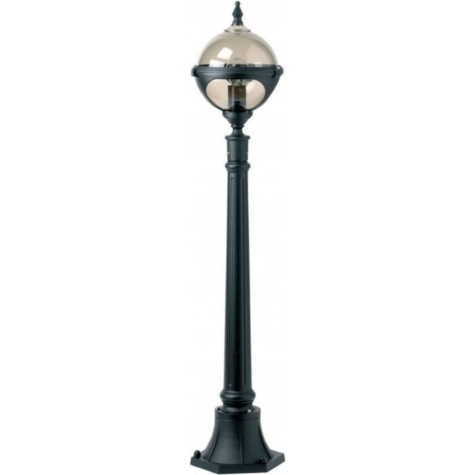 Outdoor Post Light Replacement Glass: Endon Lighting Single Light Large Outdoor Globe Post Light