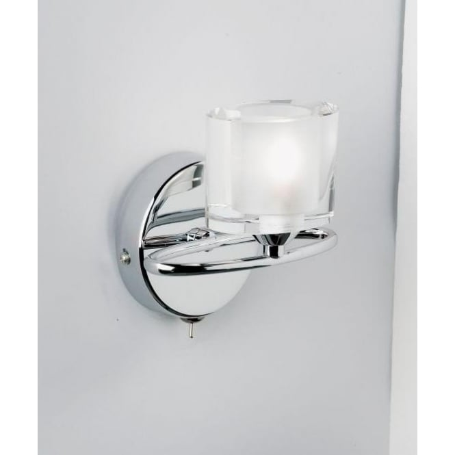 Endon Lighting Sonata Single Halogen Wall Light With Chrome Oval Arm And Crystal Shade